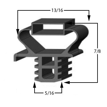 Profile 891 - Custom Drawer Gasket