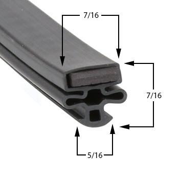 Profile 010 - Custom Upright Door Gasket