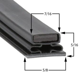Profile 716 - Custom Undercounter Door Gasket