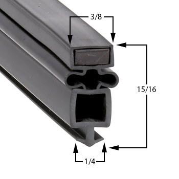 Profile 959 - Custom Upright Door Gasket