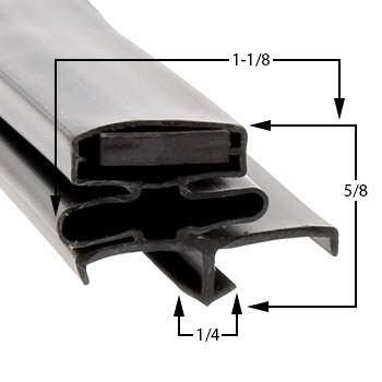 Profile 164 - Custom Upright Door Gasket