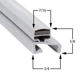 Profile 306 - Custom Undercounter Door Gasket