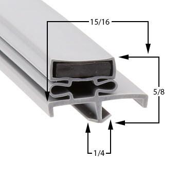 Profile 168 - Custom Upright Door Gasket