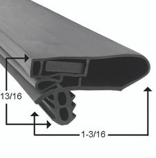 Hussmann Gasket 29 3/4 x 65 1/4 - Black