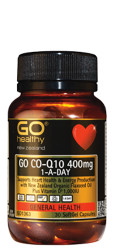Go Healthy CoQ10 400mg 1-A-Day 30 Capsules