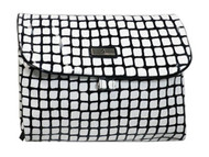 Black & White Roll Up Vanity Bag