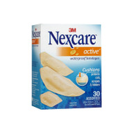 3M Nexcare™ Active™ Waterproof Bandages, 30 Assorted