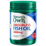 Nature's Own Odourless Fish Oil 2000mg, 200 Calsules