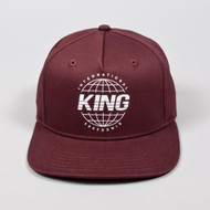 BETHNAL PINCH PANEL SNAPBACK-OXBLOOD
