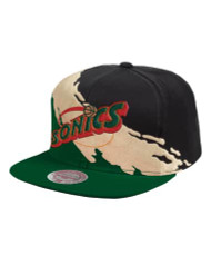 GOLD PAINT SNAPBACK SEATTLE SUPERSONICS