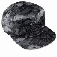 BLACK BRUSH CAMO SNAPBACK