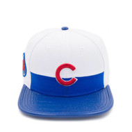 CHICAGO CUBS LOGO LEATHER STRAPBACK