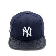 NEW YORK YANKEES 2000 SUBWAY SERIES LOGO LEATHER STRAPBACK