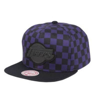 CHEKERED CROWN SNAPBACK LOS ANGELES LAKERS