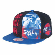 PHOTO WWW SNAPBACK DETROIT PISTONS RASHEED WALLACE