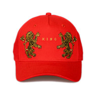PRESTIGE CURVED PEAK CAP-CRIMSON