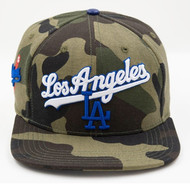 LOS ANGELES DODGERS WORDMARK WITH LOGO STRAPBACK