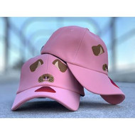 PINK SUEDE DOG HAT