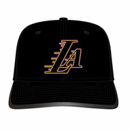 LOS ANGELES LAKERS LA DOUBLE STROKE LOGO STRAPBACK
