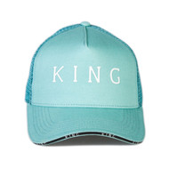 STEPNEY MESH TRUCKER CAP - MINT BLUE