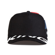 MANOR CURVED PEAK CAP - BLACK