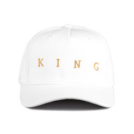 TENNYSON GOLD CURVED PEAK CAP - WHITE