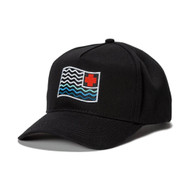 WAVES FLAG SNAPBACK IN BLACK