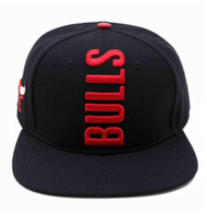 CHICAGO BULLS CITY TEAM VERTICAL STRAPBACK