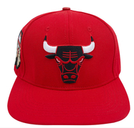 CHICAGO BULLS CHAMPIONSHIPS LOGO STRAPBACK - RED