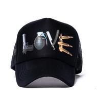 BLACK  LOVE TRUCKER HAT