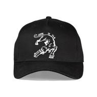 EARLHAM PANTHER CURVED PEAK CAP - BLACK