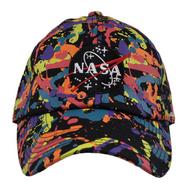 NASA BLACK NEON SPLATTER DAD HAT