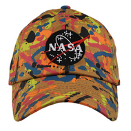 NASA WHEAT NEON SPLATTER DAD HAT