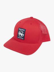 DIAMOND X NAUTICA COMPETITION TRUCKER HAT - RED