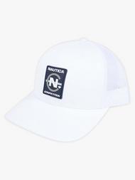 DIAMOND X NAUTICA COMPETITION TRUCKER HAT - WHITE