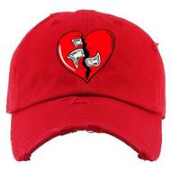 BROKEN HEART DAD HAT - RED