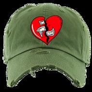BROKEN HEART DAD HAT - OLIVE