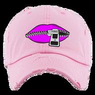 LIPS DAD HATS - PINK W/PURPLE
