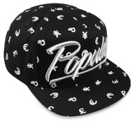 CURRENCY SILVER SCRIPT SNAPBACK