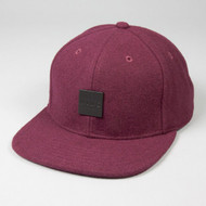STERLING 6 PANEL SNAPBACK-BURGUNDY FLANNEL