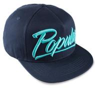 POPULAR SCRIPT SNAPBACK-NAVY BLUE