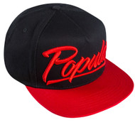 POPULAR SCRIPT SNAPBACK-BLACK/RED