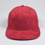 ROKEBY PINCH PANEL SNAPBACK-OXBLOOD SUEDE