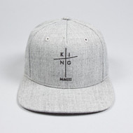 EARLHAM PINCH PANEL SNAPBACK-HEATHER GREY