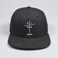 EARLHAM PINCH PANEL SNAPBACK-BLACK