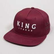 STEPNEY PINCH PANEL SNAPBACK-OXBLOOD