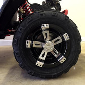 Hub Cap Set of 4 - Black/Chrome - Fits TrailMaster Mid XRX-R & Mid XRX