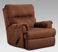Chocolate Microfiber 3 position rocker Recliner