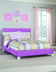 LAVENDER FULL SIZE YOUTH PLATFORM BED