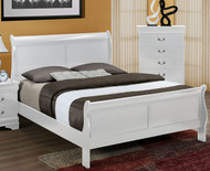 White Louie Philippe Bed